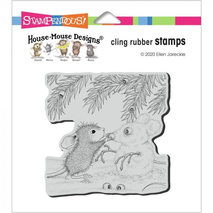 Stampendous House Mouse Cling Stamp Snowmouse