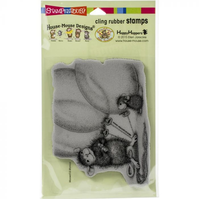 Stampendous House Mouse Cling Stamp Balloon Buddies