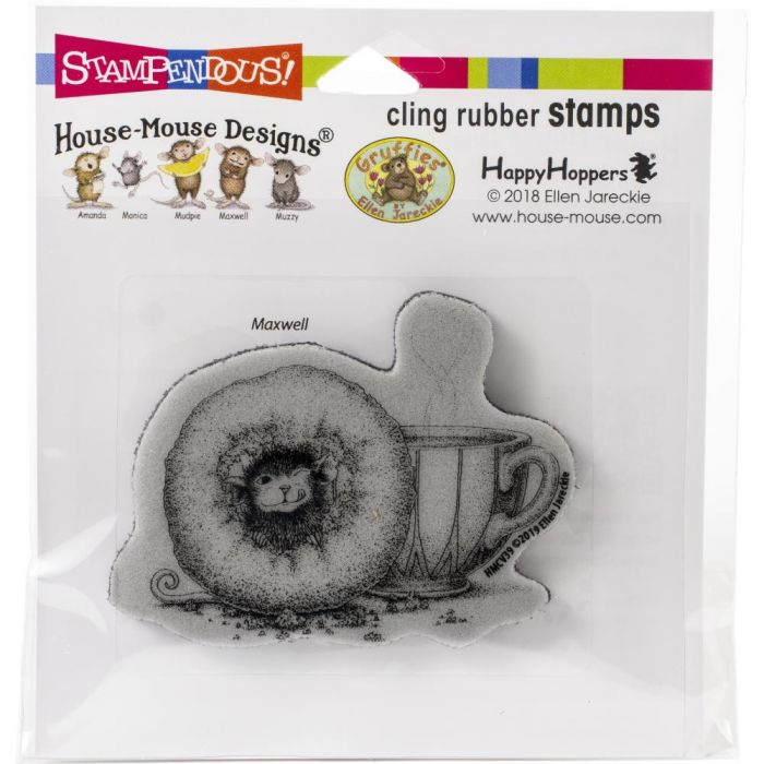 Stampendous House Mouse Cling Stamp Donut Day