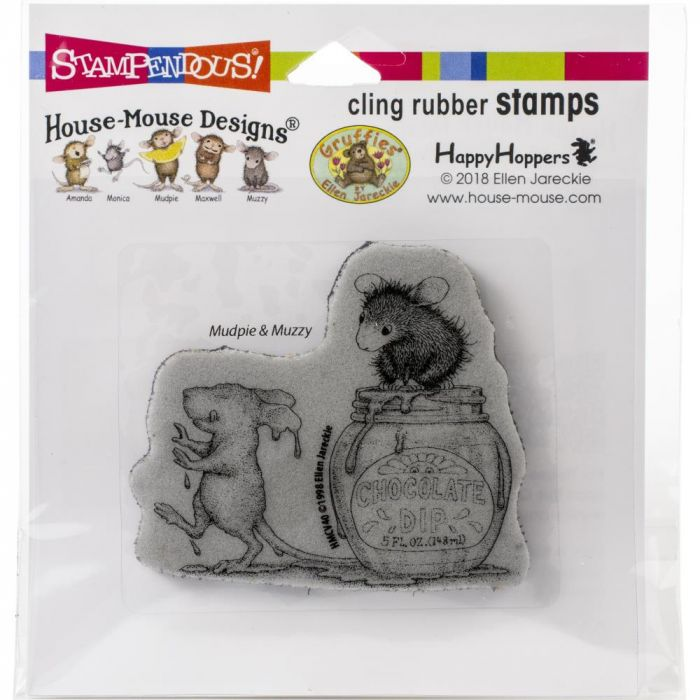Stampendous House Mouse Cling Stamp Chocolate Dip