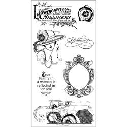 Graphic 45 Ladies' Diary Acetate Cling Stamps 4