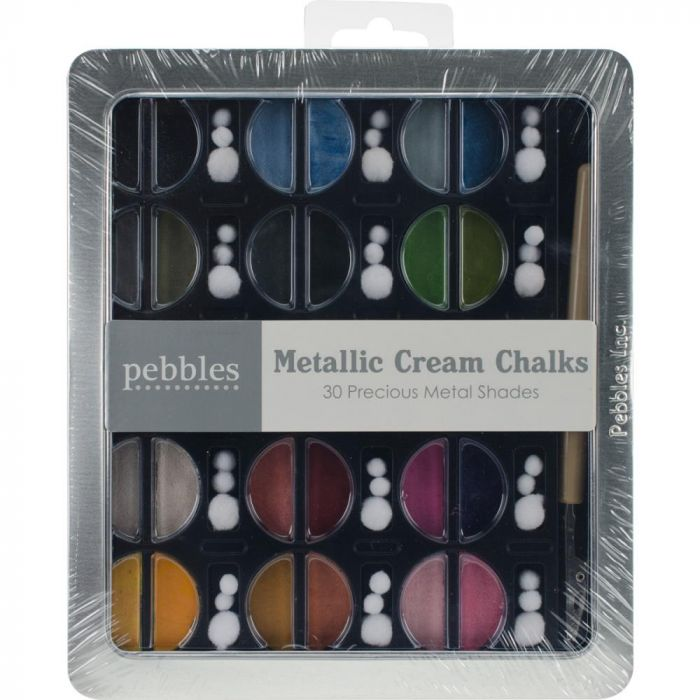 American Crafts Pebbles chalks metallics 30 pieces