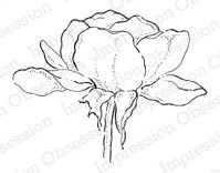 Impression Obsession Cling mounting stamp Grandma's Garden Rose
