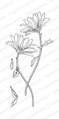 Impression Obsession Cling mounting stamp Loving Daisies