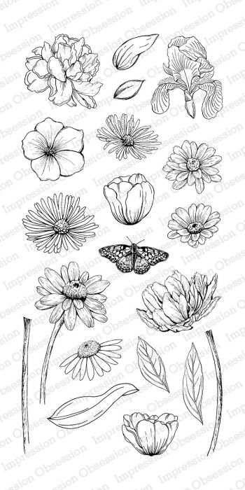 Impression Obsession Clear stamp set Sketched Spring Blooms