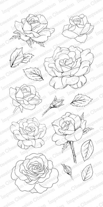 Impression Obsession Clear stamp set Rose Blooms