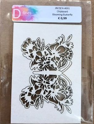 D-lines Chipboard Blooming Butterfly