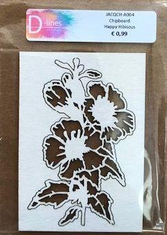 D-lines Chipboard Happy Hibiscus