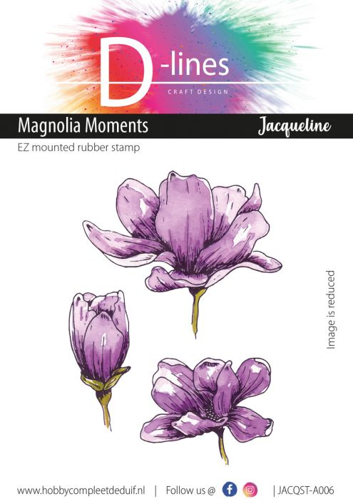 D-Lines EZ mounted rubber stamps Magnolia Moments