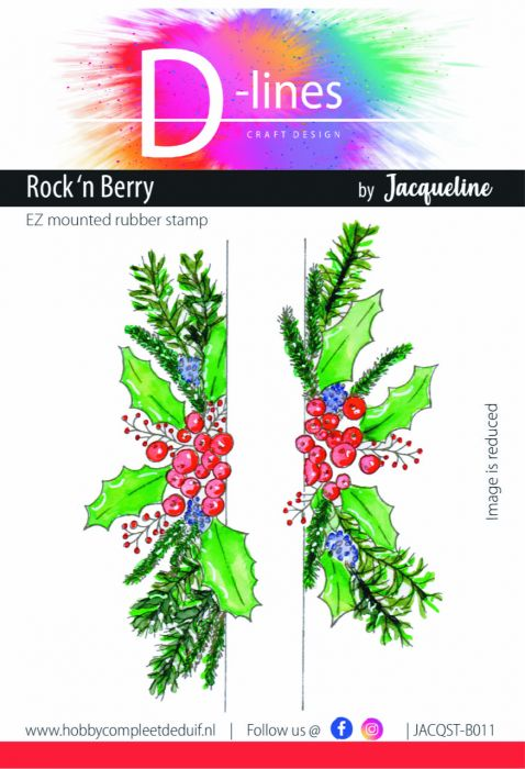D-lines EZ mounted rubber stamps Rock 'n Berry