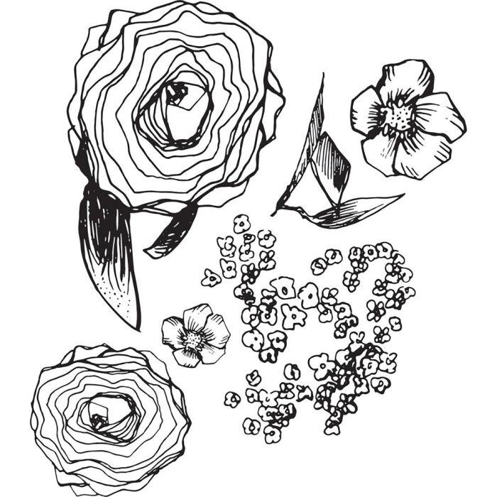 Jane Davenport Artomology Clear Stamps  Build A Bouquet