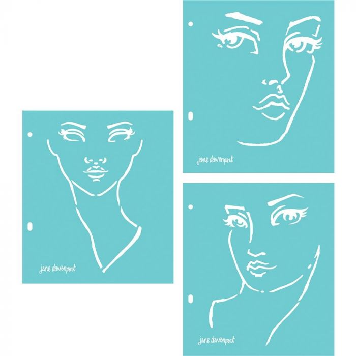 Jane Davenport Artomology Stencils Good Face