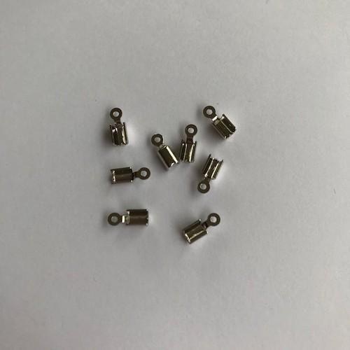 Koordsluiting klein 5x3mm platium 8 stuks