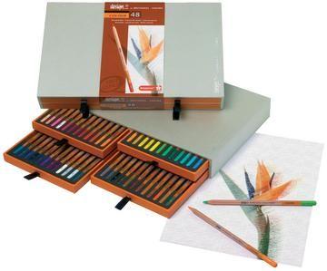 Kleurpotloden houtenbox 48 stuks