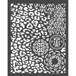 Stamperia Thick Stencil 20x25 cm Amazonia Animaller with Tribals