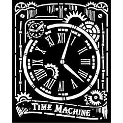 Stamperia Thick Stencil 20x25cm Voyages Fantastiques Clock