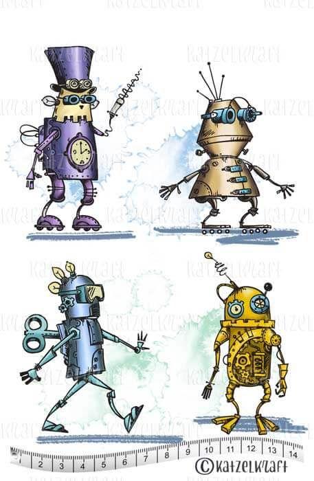 Katzelkraft stempel Robots clé