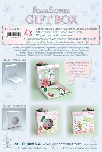 LeCrea - Flower Foam gift boxes 4 x white 25.4803 10,5x11x2,8cm