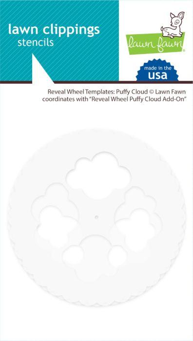 Lawn Fawn custom craft dies reveal wheel templates: puffy cloud