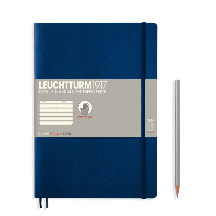 leuchtturm1917 Notebook Softcover Composition (B5) Navy Softcover Composition (B5) 123 p. ruled