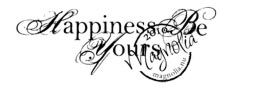 Magnolia stempel Happiness Be Yours (text)