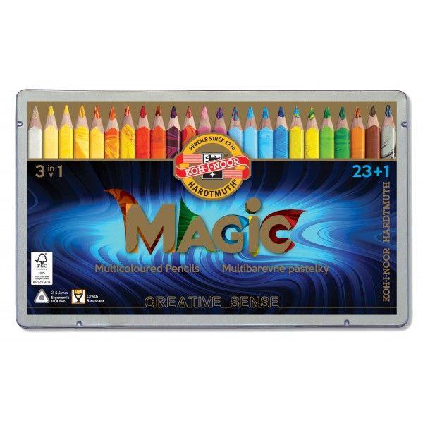 MAGIC Kleurpotlood  blik van 23+1 stuks (3408)