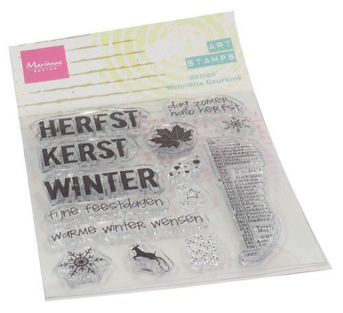 Marianne Design Clear Stamps Art stamps Hello Fall (ENG)  95x160 mm