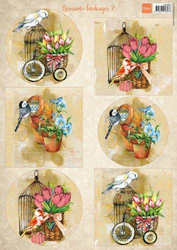 Marianne Design Decoupage Vogels & vogelkooien 2  A4