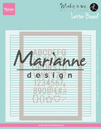Marianne Design Embossing folder Extra Karin Joan's Letter Board 152x154 mm