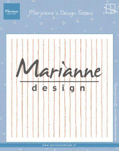 Marianne Design Embossing folder Marjoleine's stripes 152x154mm