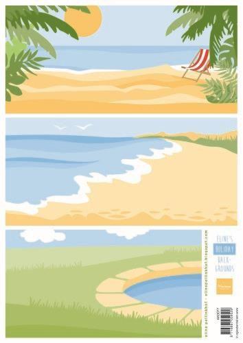 Marianne Design Knipvellen Eline's Holiday achtergronden A4
