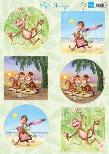 Marianne Design Knipvellen Hetty's Monkeys  A4 6 designs