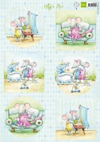 Marianne Design Knipvellen Hetty's muizenbaby A4