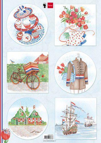 Marianne Design Knipvellen I love Holland - Fiets A4