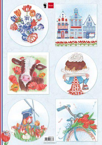 Marianne Design Knipvellen I love Holland - Tulpen A4