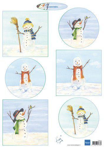 Marianne Design Knipvellen Tiny's Snowmen  A4