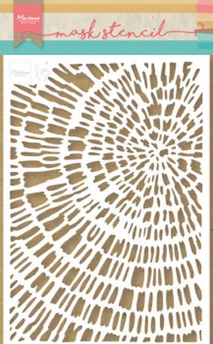 Marianne Design Stencil Tiny's Sliced Wood 149x210 mm