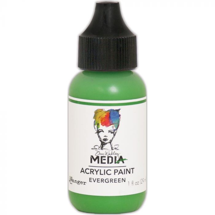 Dina Wakley Media Acrylic Paint 1oz Evergreen