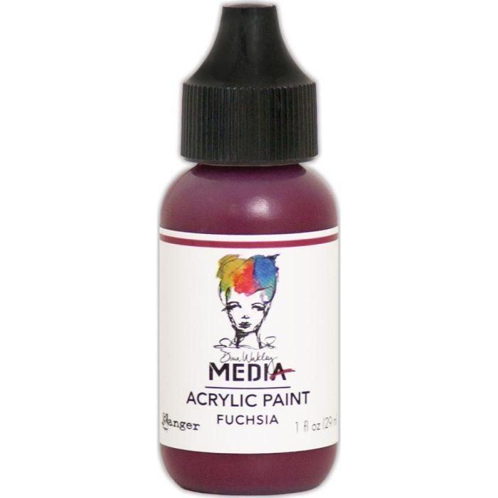 Dina Wakley Media Acrylic Paint 1oz Fuchsia