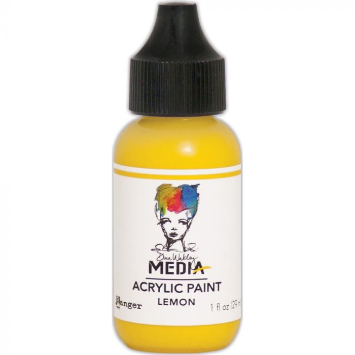 Dina Wakley Media Acrylic Paint 1oz Lemon