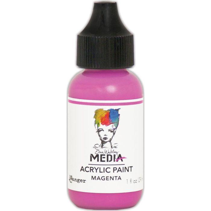 Dina Wakley Media Acrylic Paint 1oz Magenta