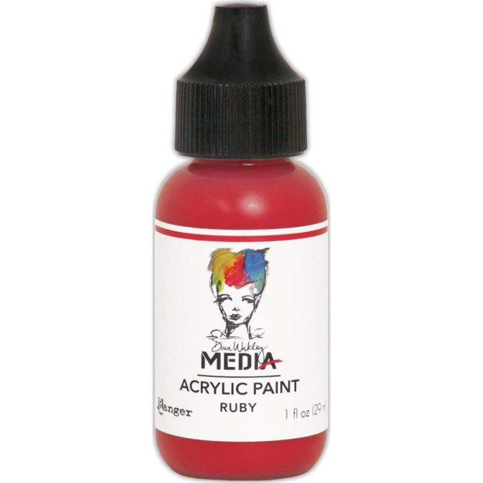 Dina Wakley Media Acrylic Paint 1oz Ruby