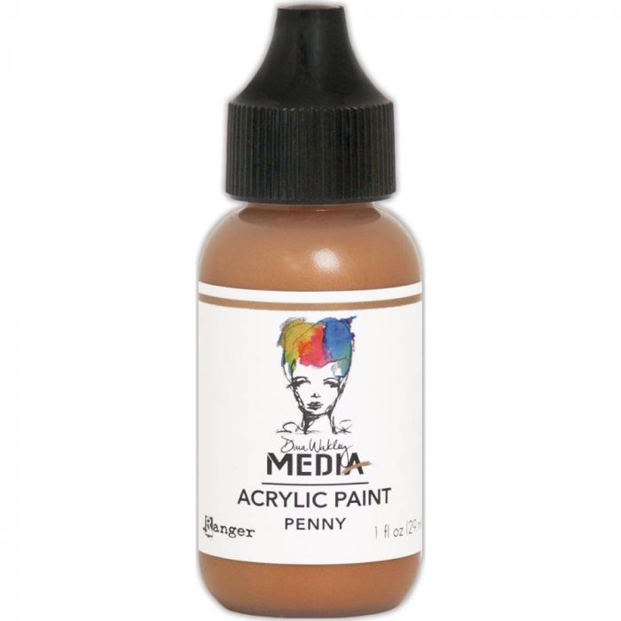 Dina Wakley Media Metallic Acrylic Paint 1oz Penny