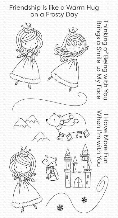 My Favorite Things Stamps Ice Princess and Friends
