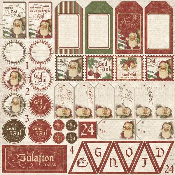 It's Christmas time - Die cut sheet