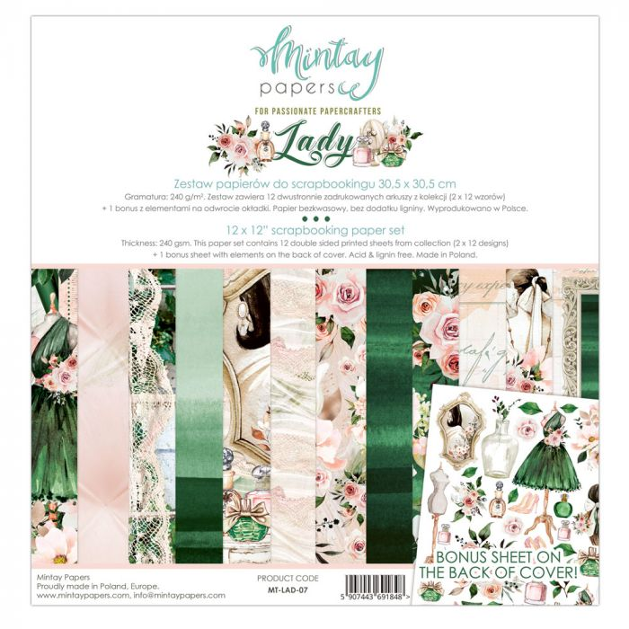 Mintay Papers 12 x 12 Paper Set - Lady