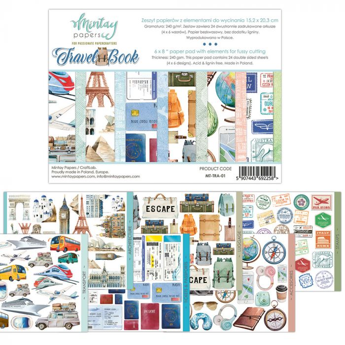 Mintay Papers 6 x 8 Travel Book - elements for precise cutting