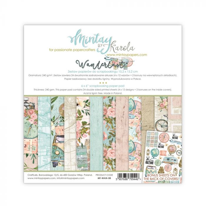 Mintay by Karola 6 x 6 Paper Pad - Wanderlust