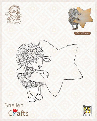 Nellie's Choice Clear stamps Little Lammy Lammy with star 70x65mm