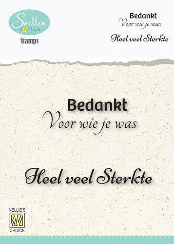 Nellie's Choice Clear Stamps - (NL) Bedankt voor wie je was Dutch Condolence Text Clear Stamps 73x49mm